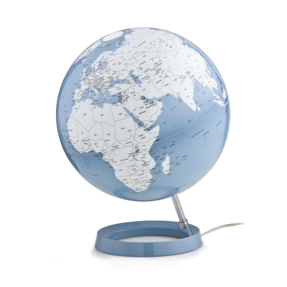 Atmosphere 30cm Illuminated Globe - Bright Azure