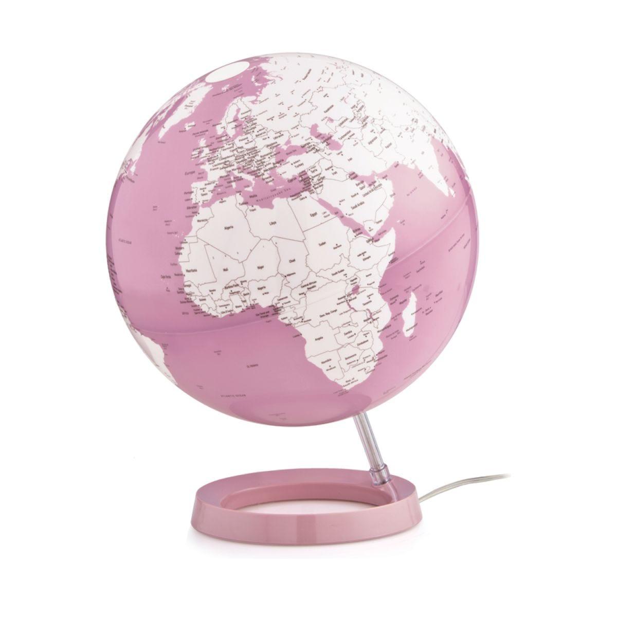 Atmosphere 30cm Illuminated Globe - Bright Coral
