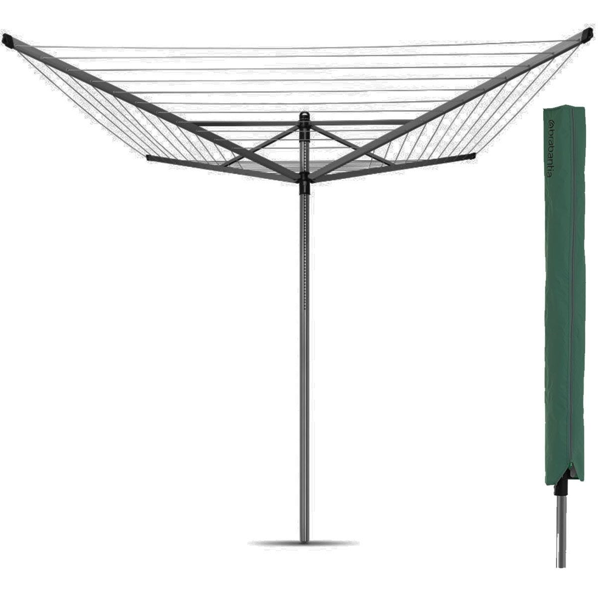 Brabantia Lift-O-Matic 60m 4-Arm Rotary Airer with Cover
