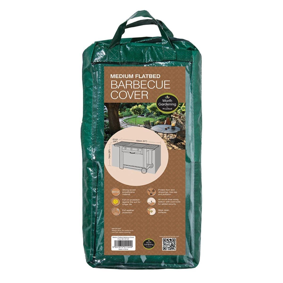 Medium Flat Trolley BBQ Cover - H74 x W130 x D63cm