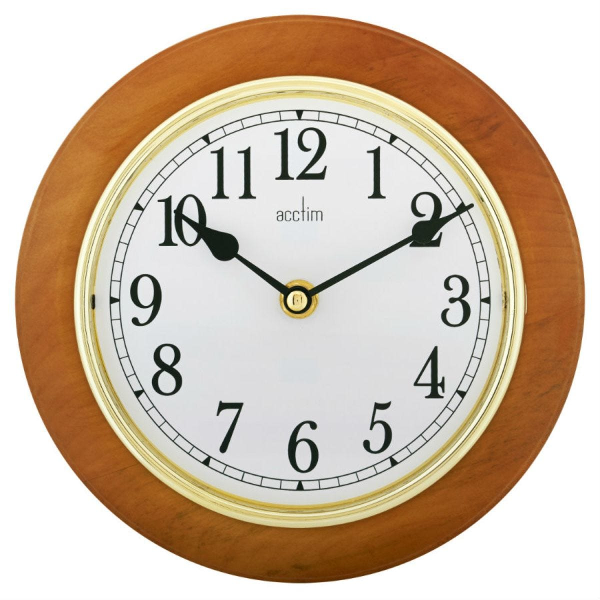 Acctim Maine 205mm Wooden Wall Clock
