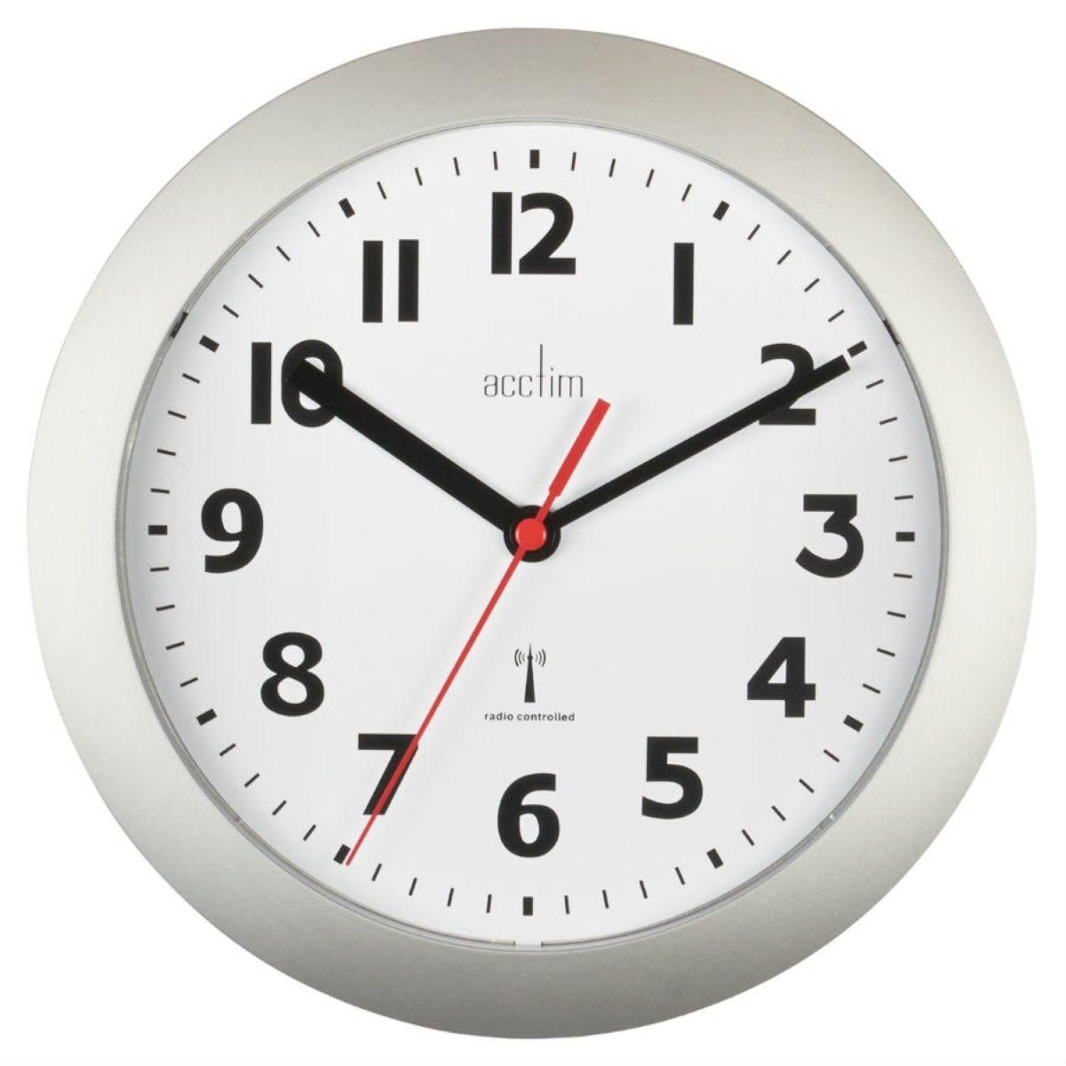Acctim Parona Radio Controlled Silver 23cm Wall Clock