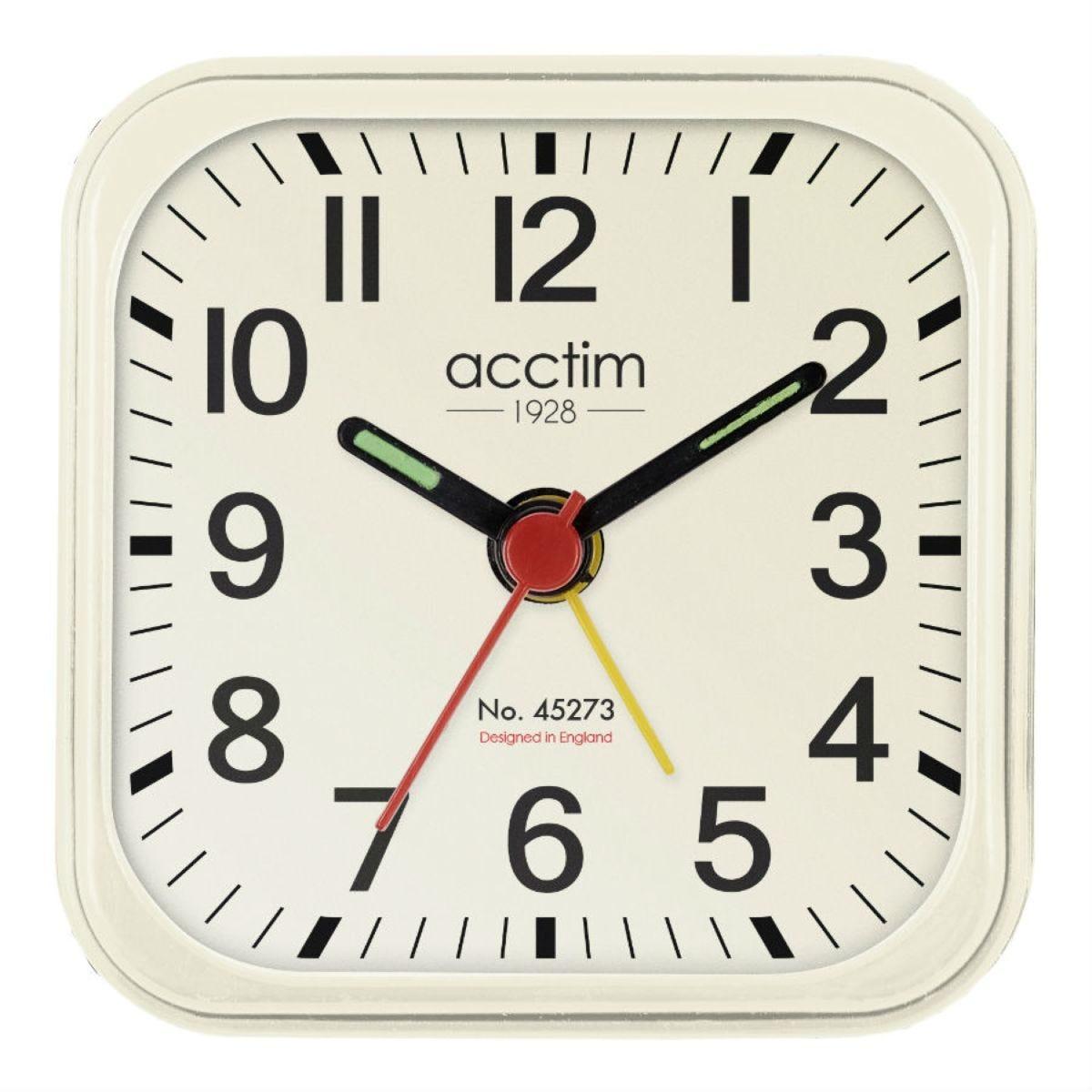 Acctim Maldon Mini Alarm Clock - Cream