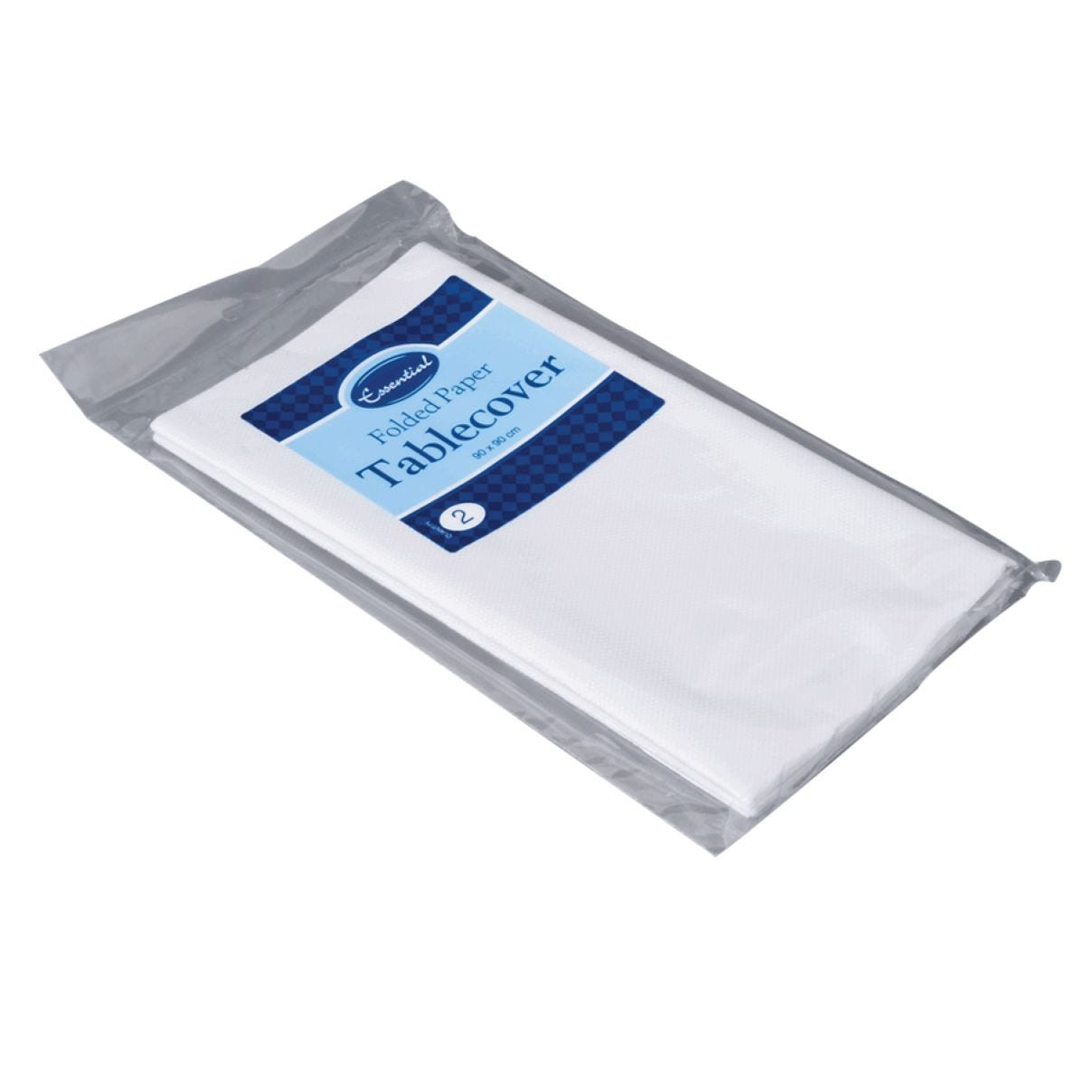 White Paper Folded Table Covers - Pack of 2