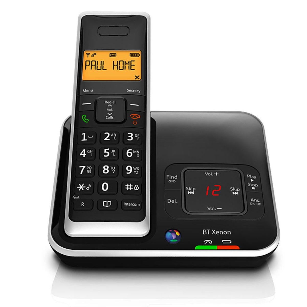 BT Xenon 1500 Cordless Telephone with Answering Machine - Single Handset | Robert Dyas