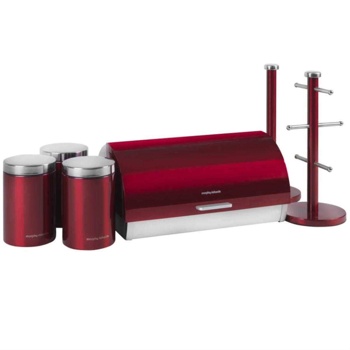 Morphy Richards 6-Piece Kitchen Storage Set - Red