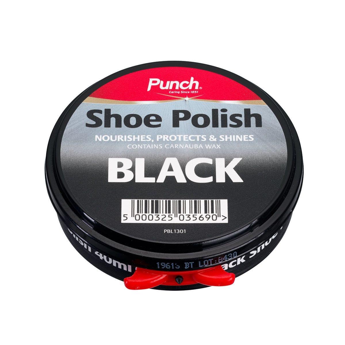 Punch Paste Shoe Polish - Black