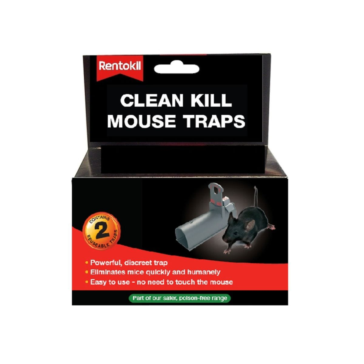 Rentokil Clean Kill Mouse Traps – Pack of 2