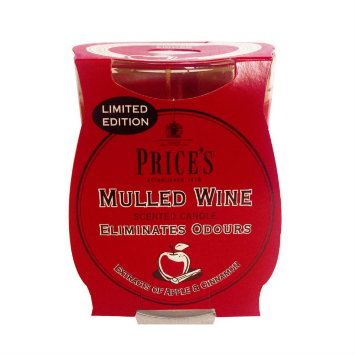 Price's Scented Candle Jar - Mulled Wine