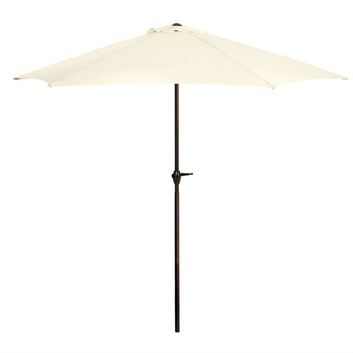 2.7m Large Garden Parasol with Metal Frame (base not included) - Cream