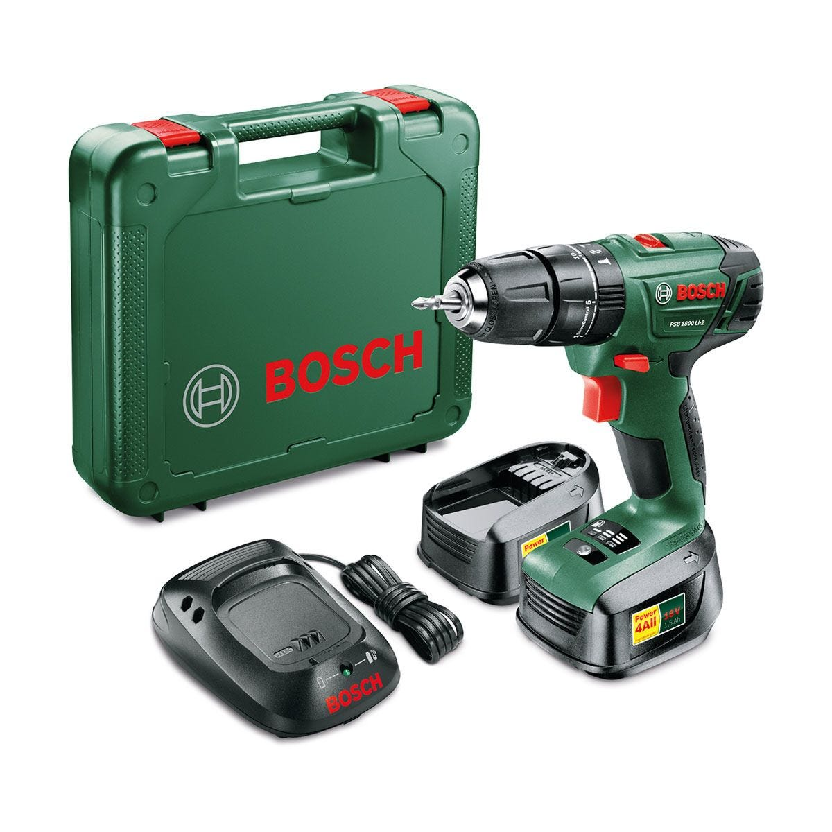Bosch PSB Li-2 1800 18V Cordless Drill with Spare Battery & Case