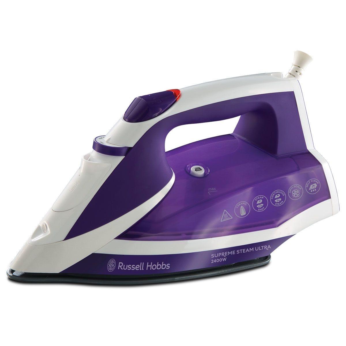 Russell Hobbs 23051 Supreme Steam Ultra 2400W Iron - Purple/White