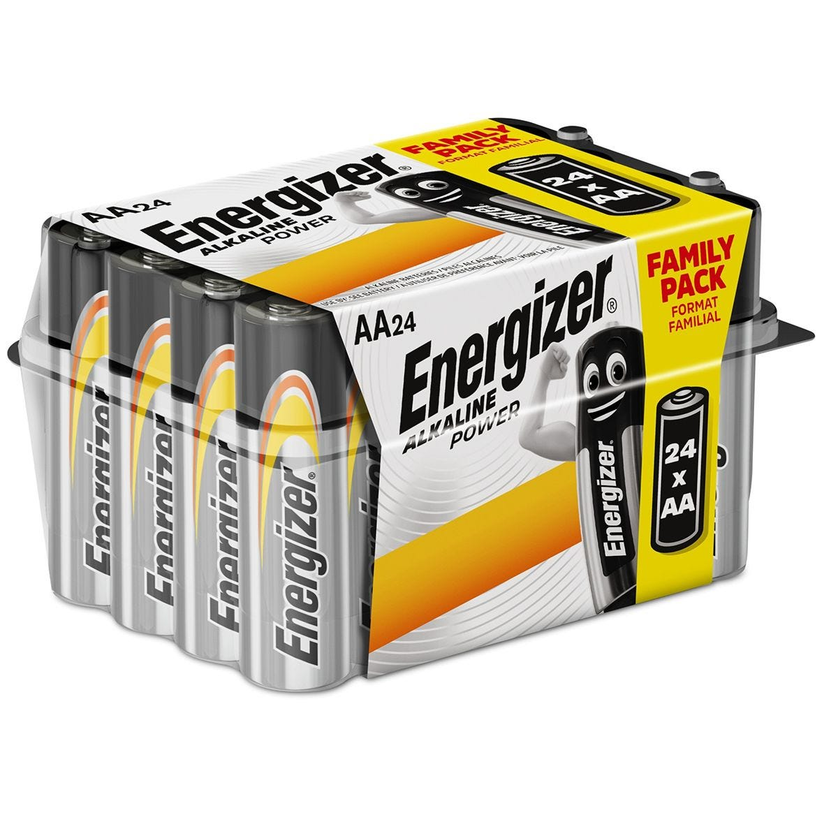 Energizer AA Alkaline Power Batteries - 24 Pack
