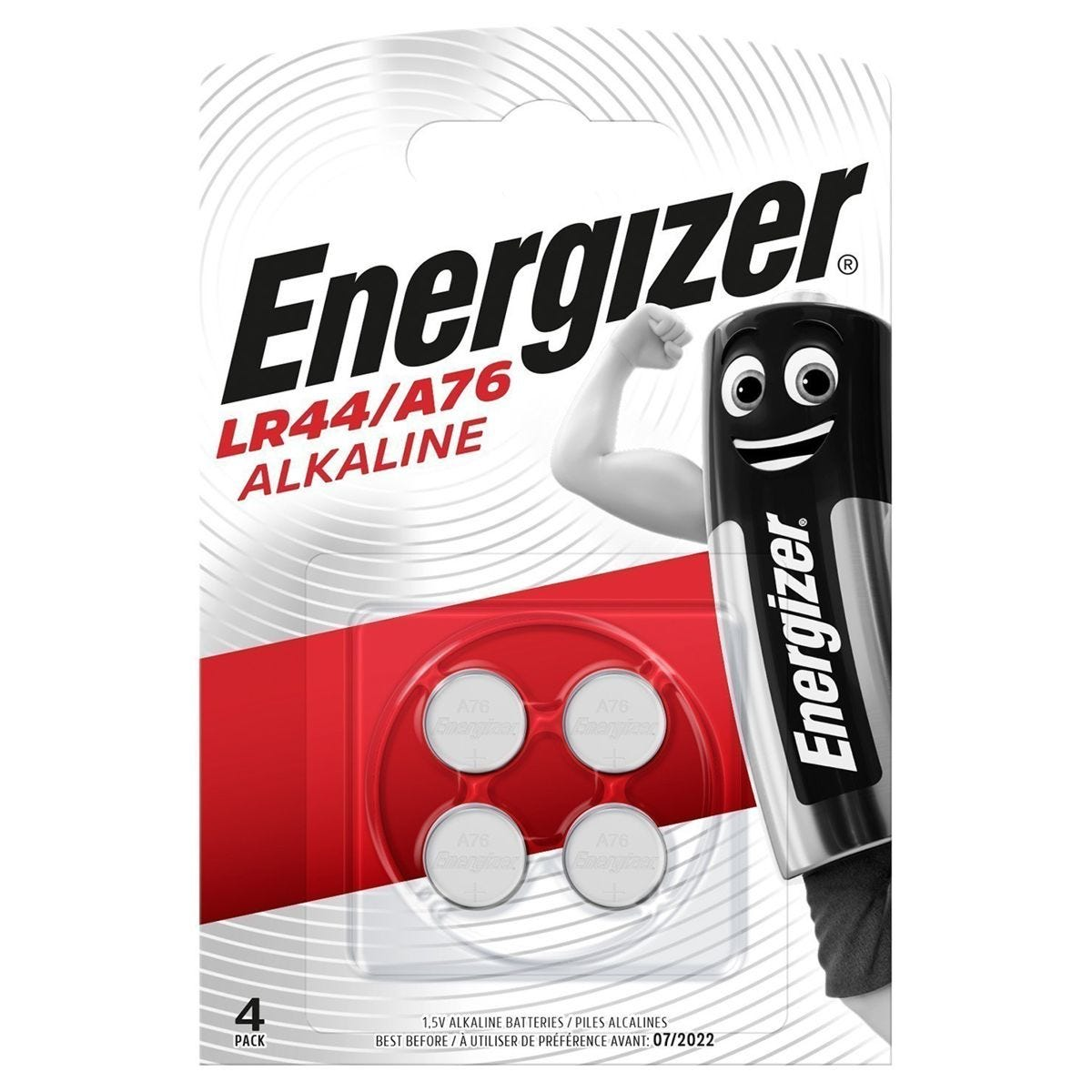 Energizer LR44 Batteries - 4 Pack
