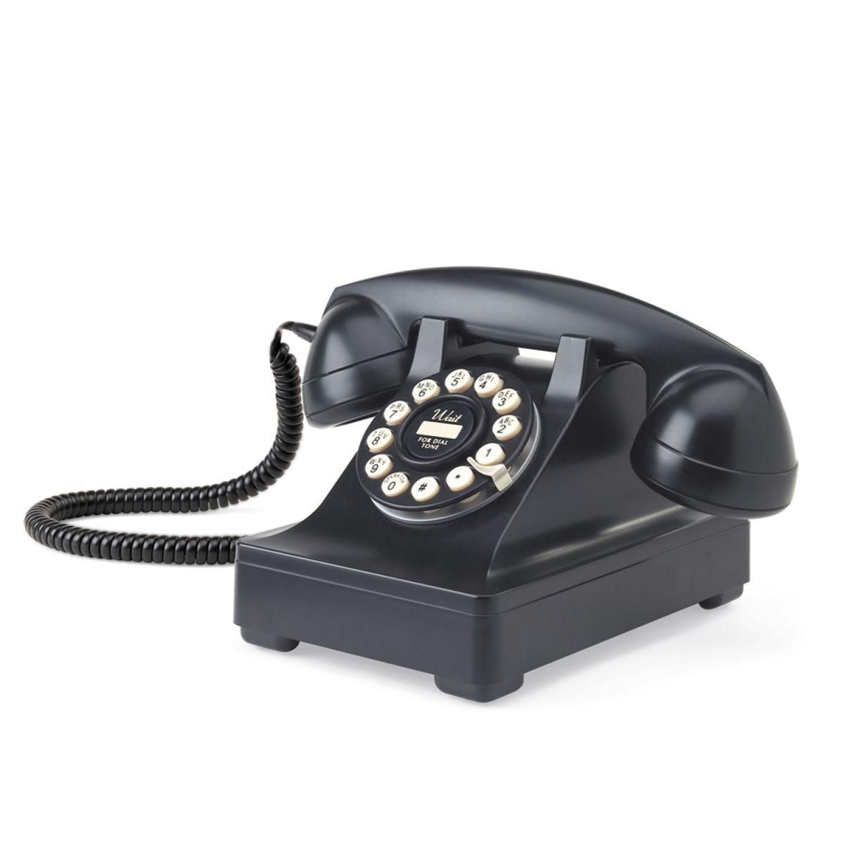 Wild & Wolf 302 Classic Design Telephone – Black