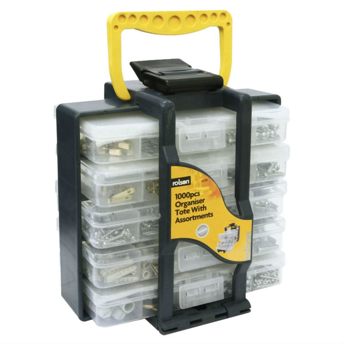 Rolson 1000-Piece Nuts and Bolts Selection in Storage Tote Box