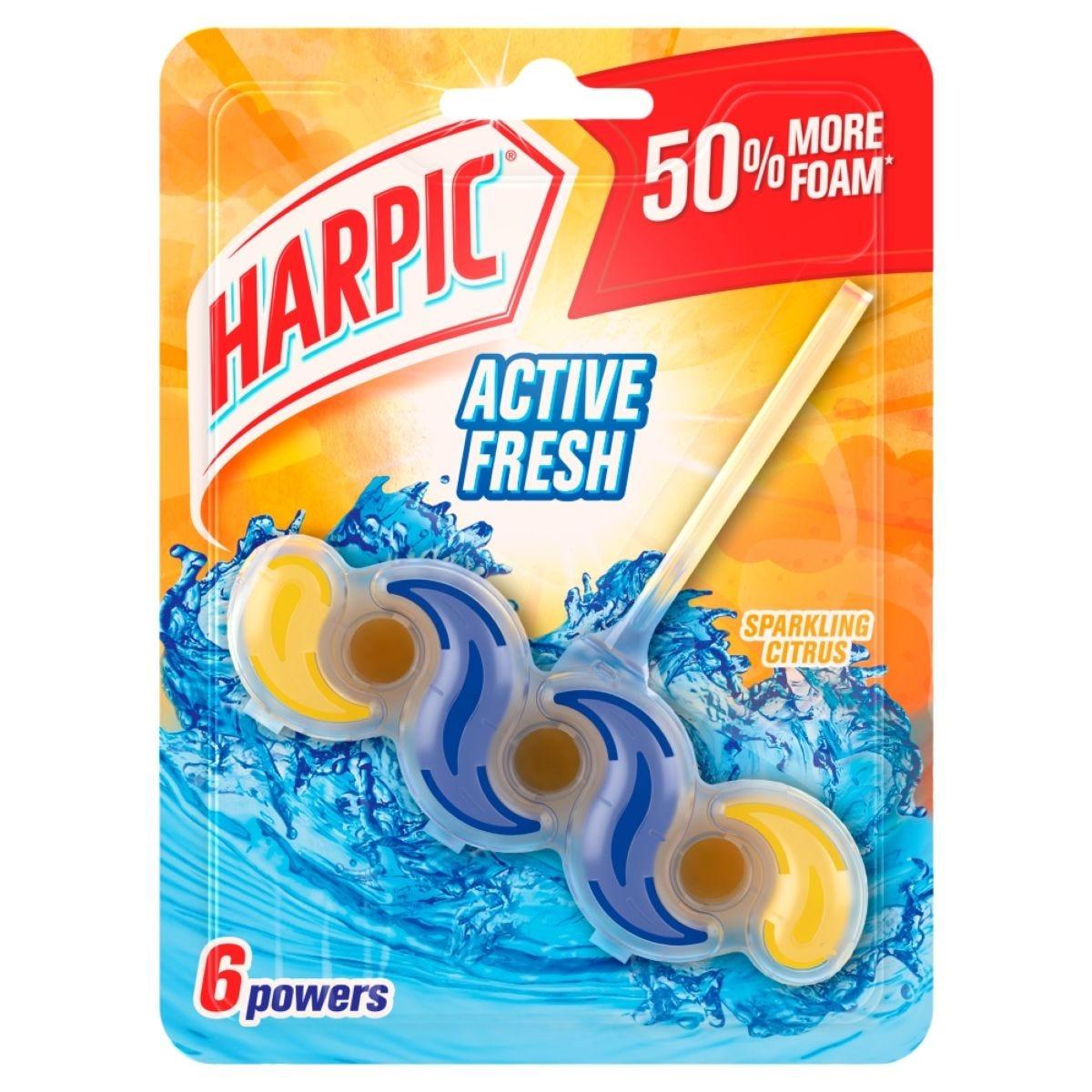 Harpic Fresh Power Sparkling Citrus Rim Block