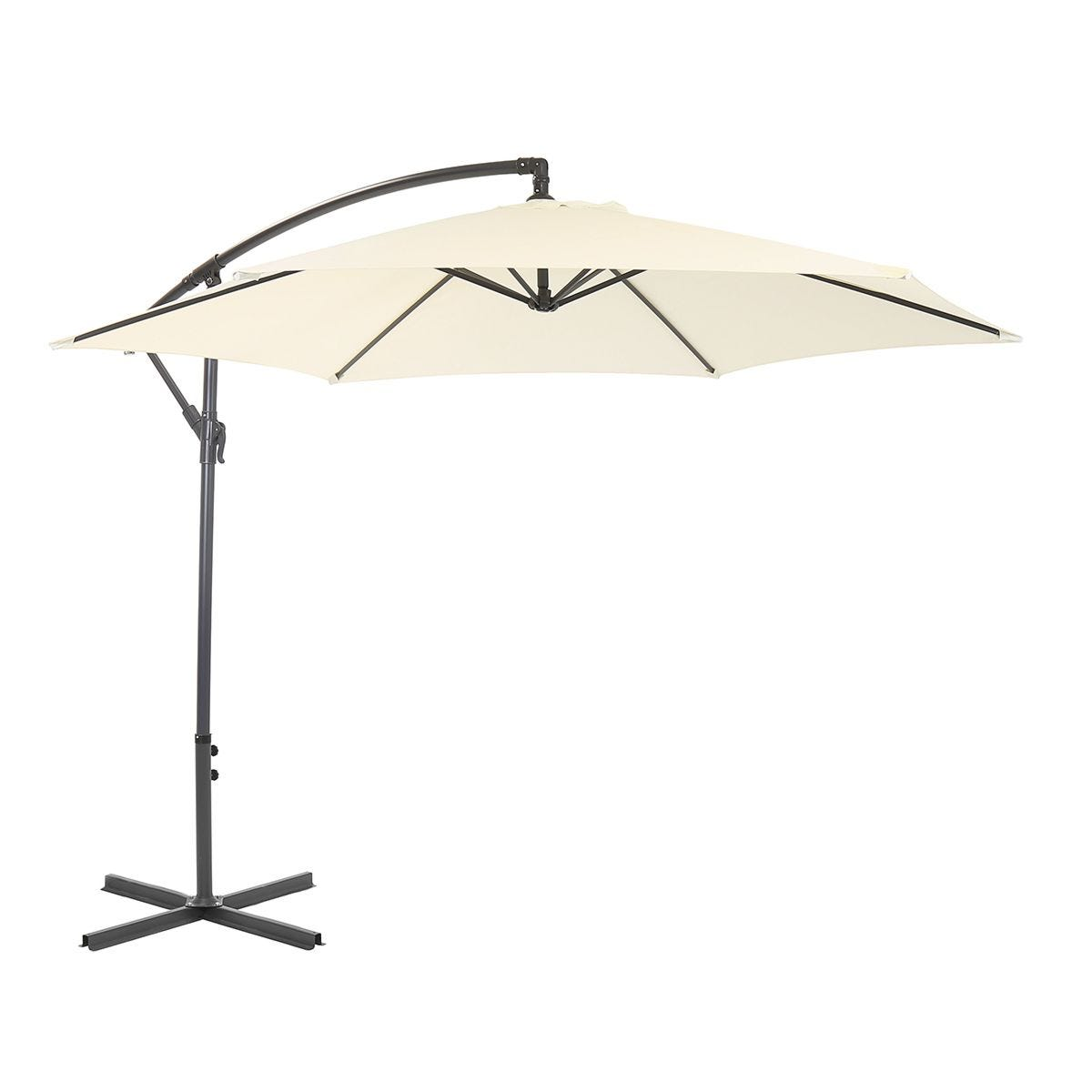 Charles Bentley 3m Hanging Parasol (base not included) - Cream