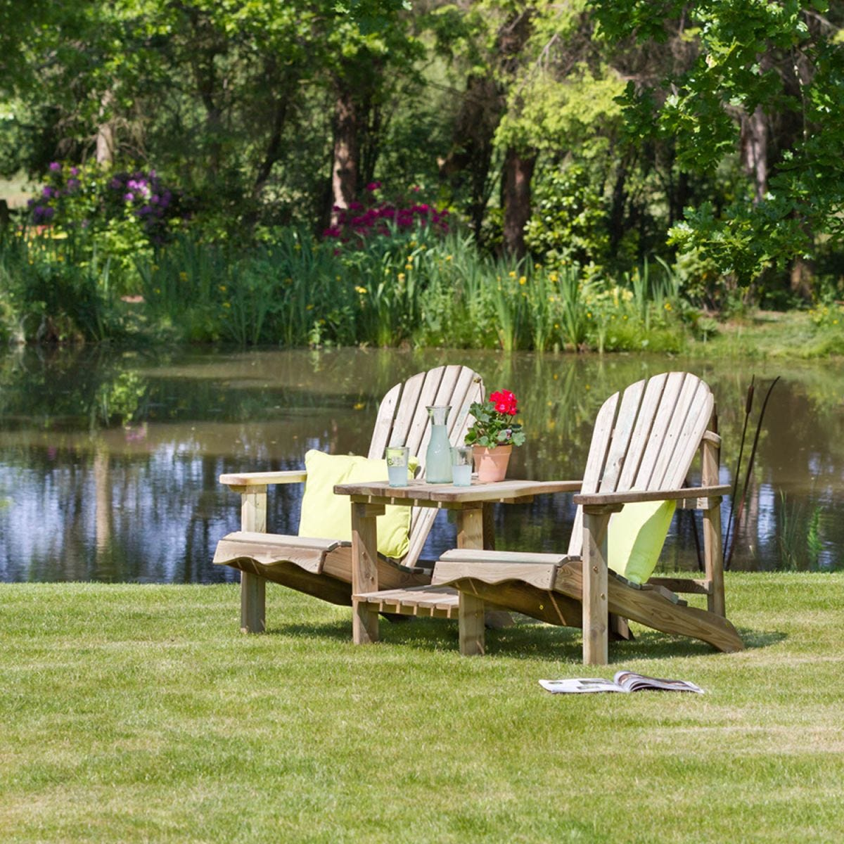 Zest4Leisure Wooden Lily Relax Double Seat