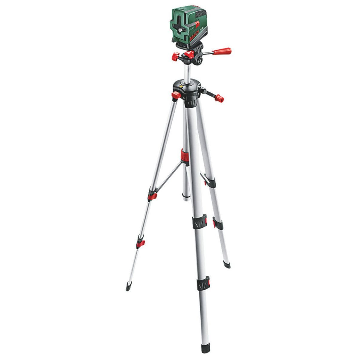 Bosch PCL 20 Cross Line Laser Tripod Set with Plumb Function