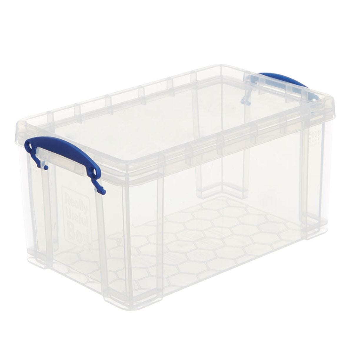 Really Useful 8L Open Front Storage Box - Clear