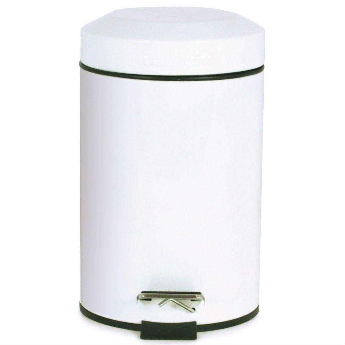 Sabichi 3L Stainless Steel Small Pedal Bin - White