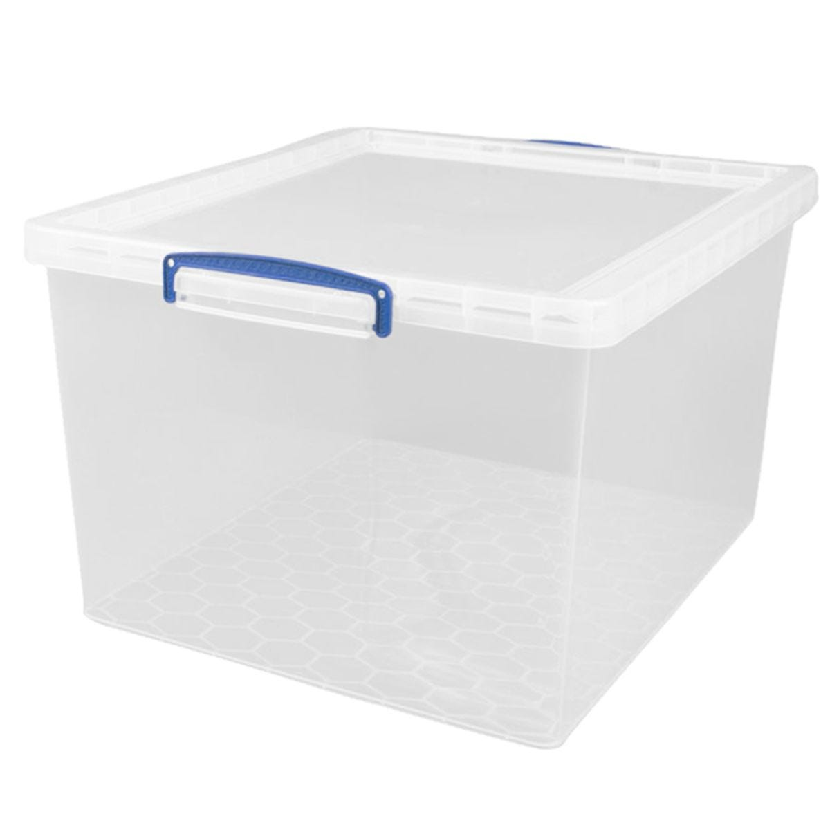Really Useful 62L Nestable Storage Box - Clear
