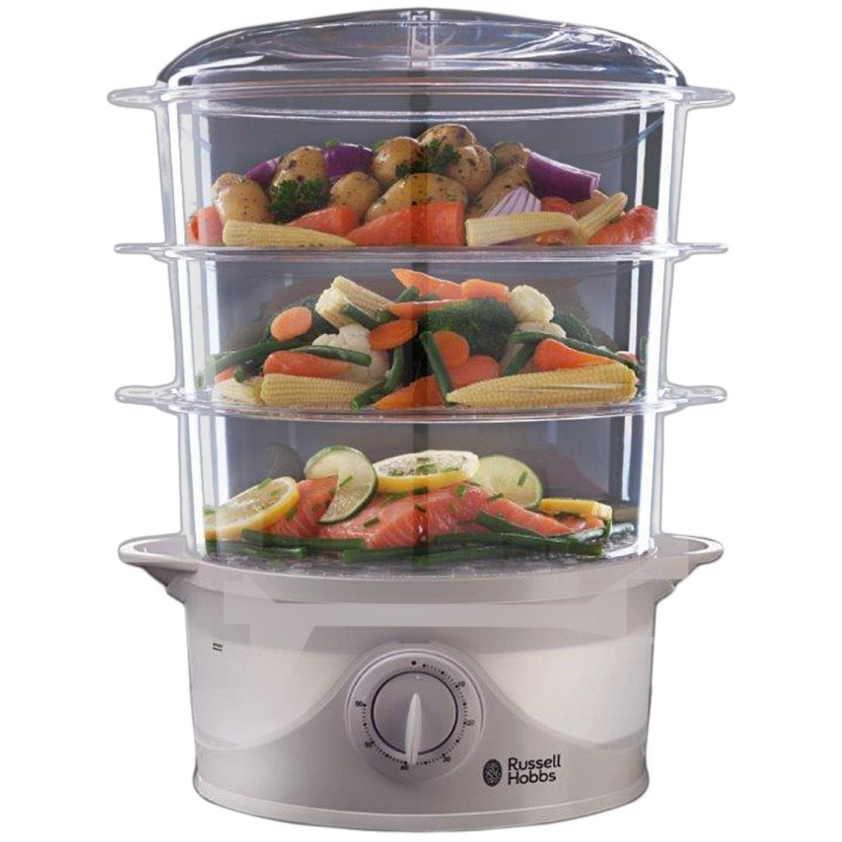 Russell Hobbs N21140 800W 3-Tier Food Steamer - White