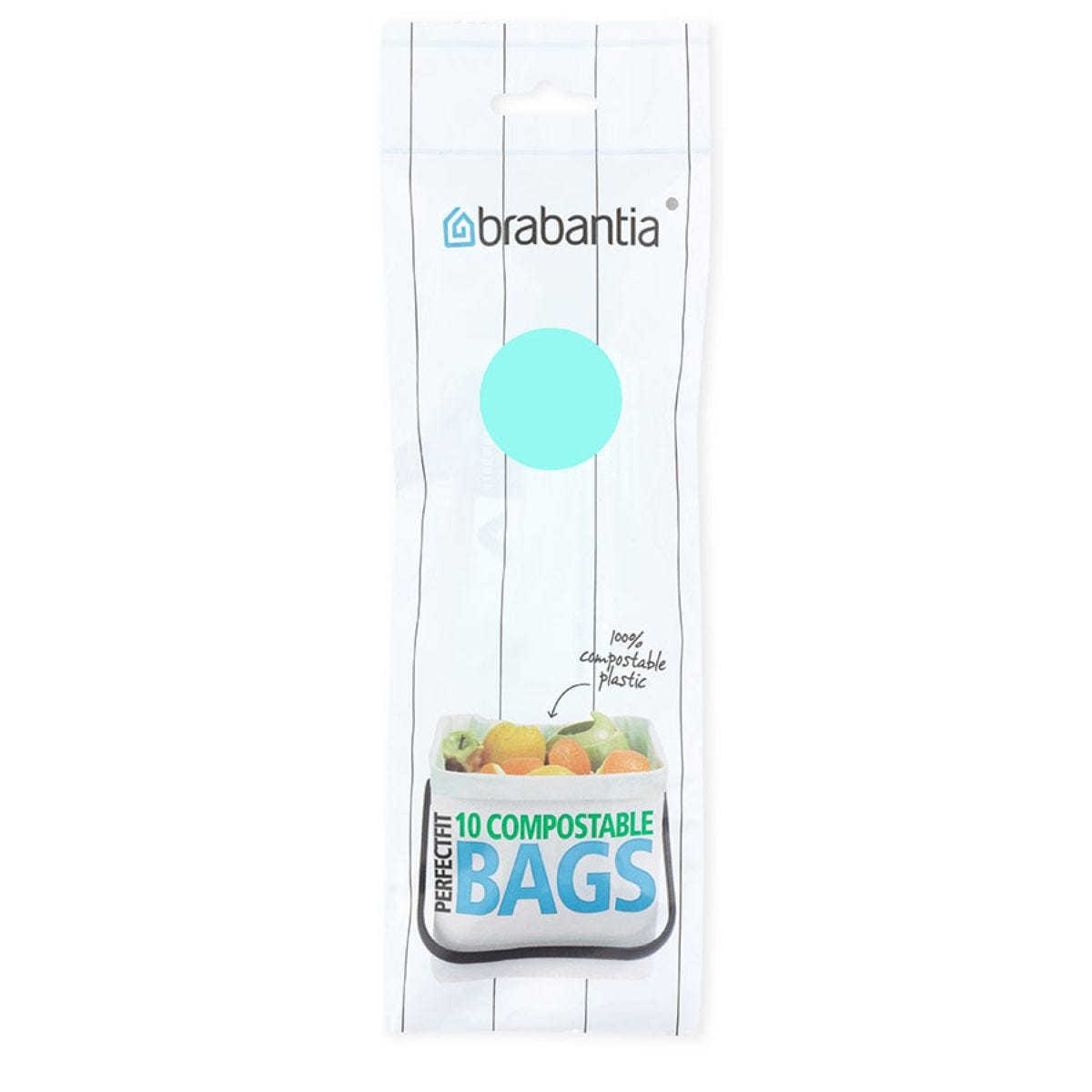 Brabantia PerfectFit 6L Compostable Bin Liners - Pack of 10
