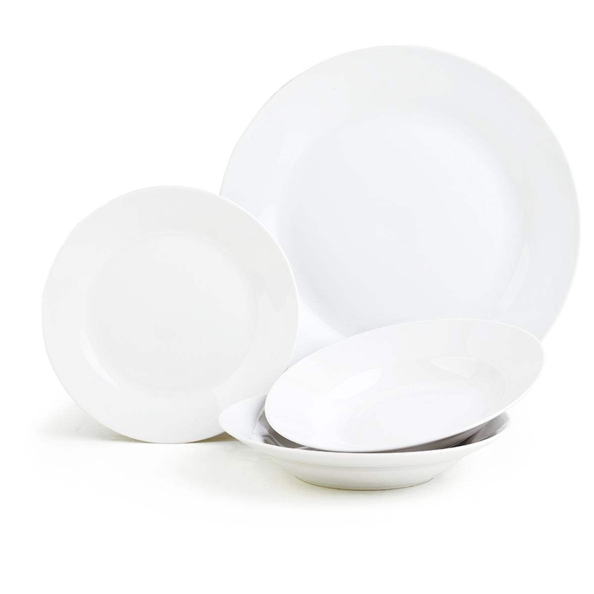 Sabichi 12-Piece White Everyday Porcelain Dinner Set