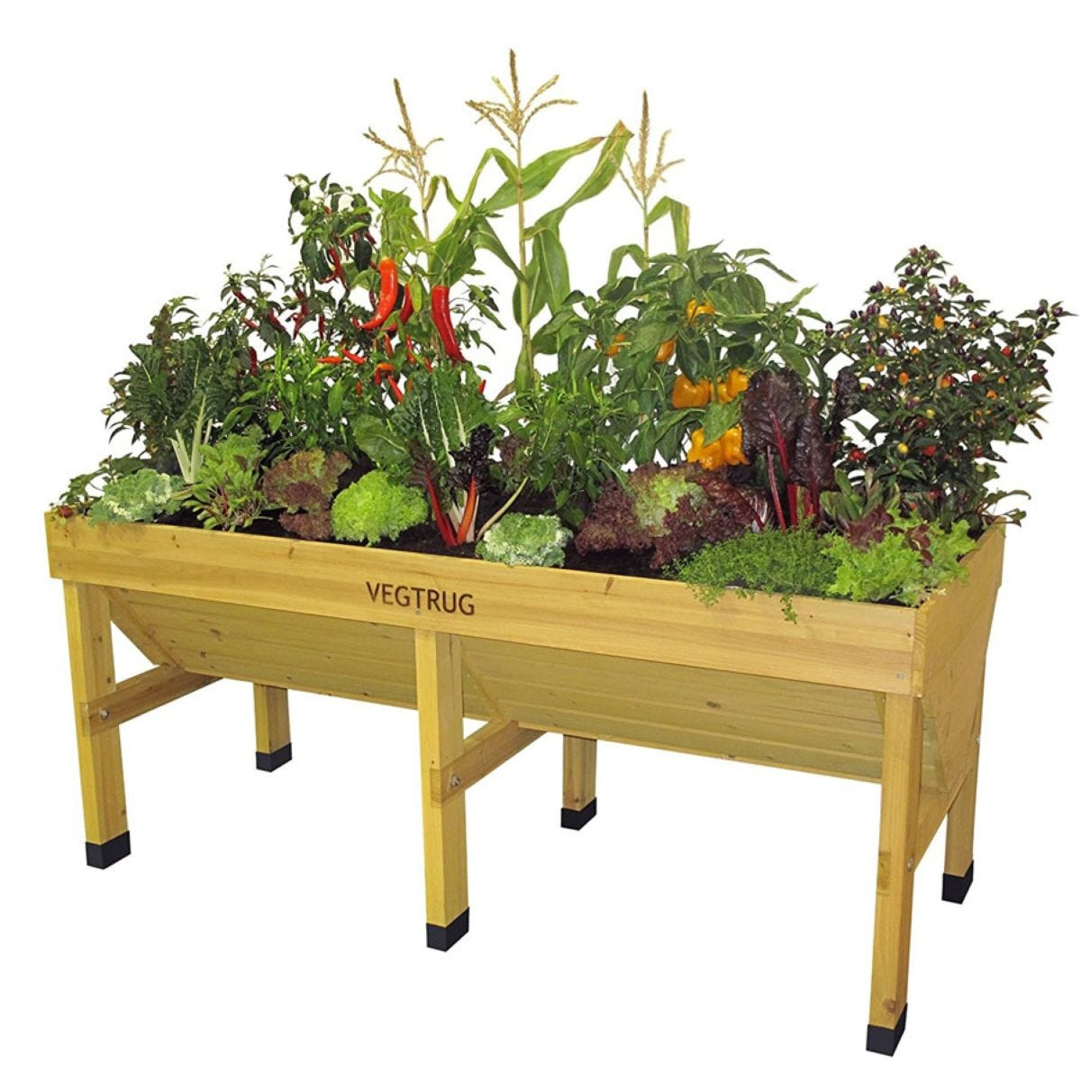 VegTrug Medium Classic Raised Planter – Natural