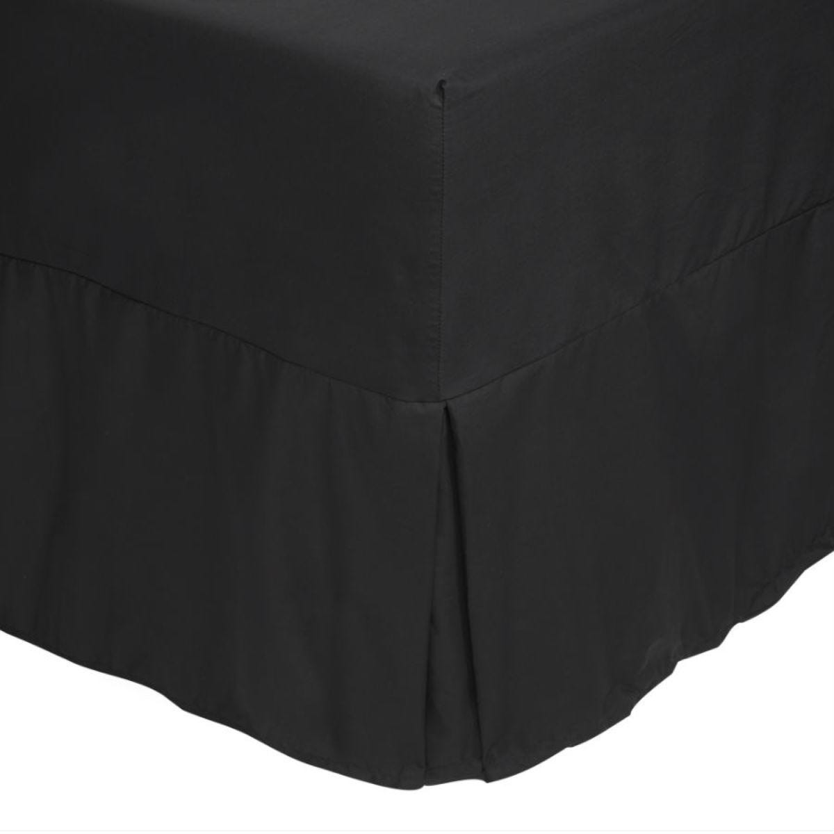 Catherine Lansfield Non-Iron Fitted Valance Sheet - Black