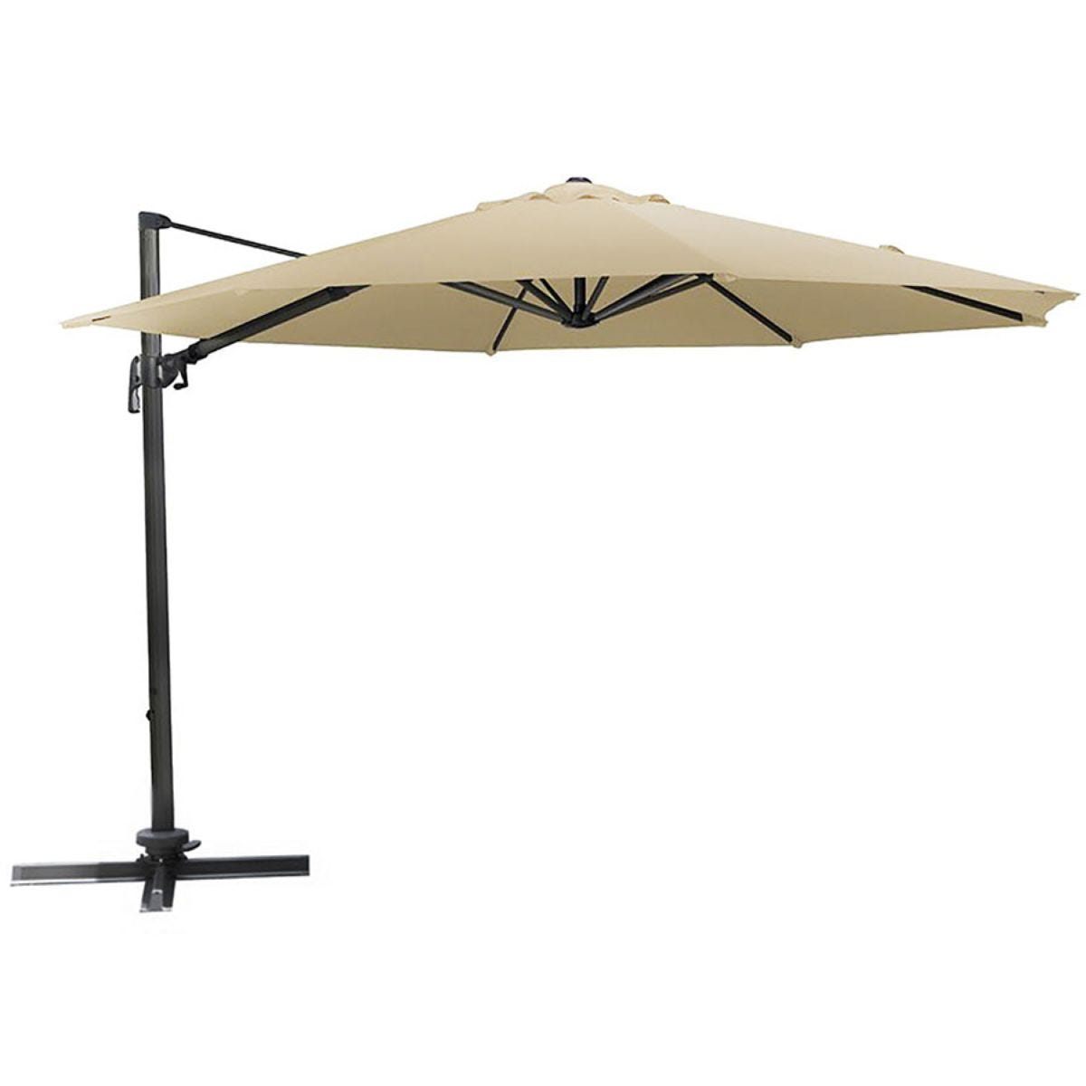 Charles Bentley Extra Large Round Garden Parasol (base not included) - Beige