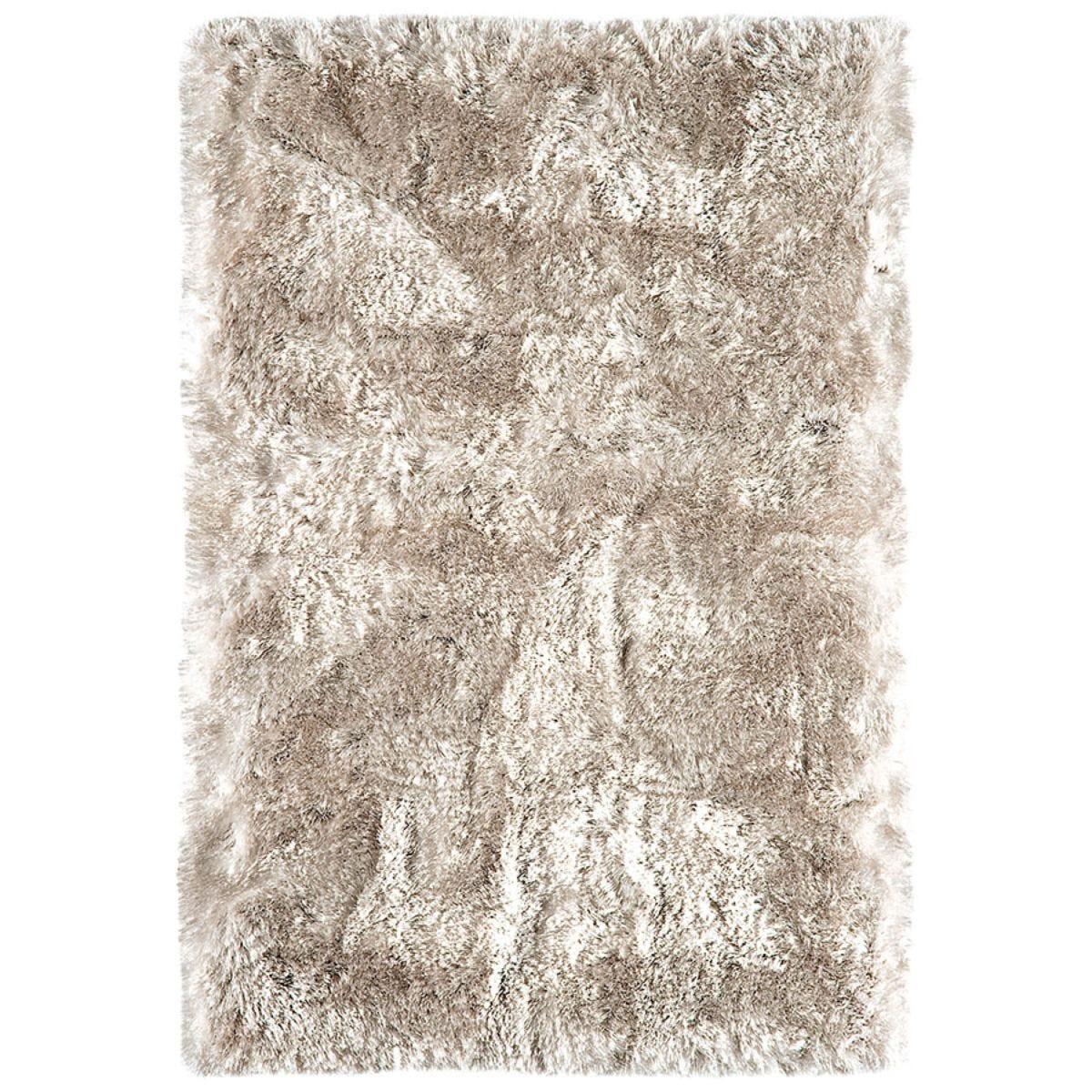 Asiatic Plush Shaggy Rug, 120 x 170cm - Sand