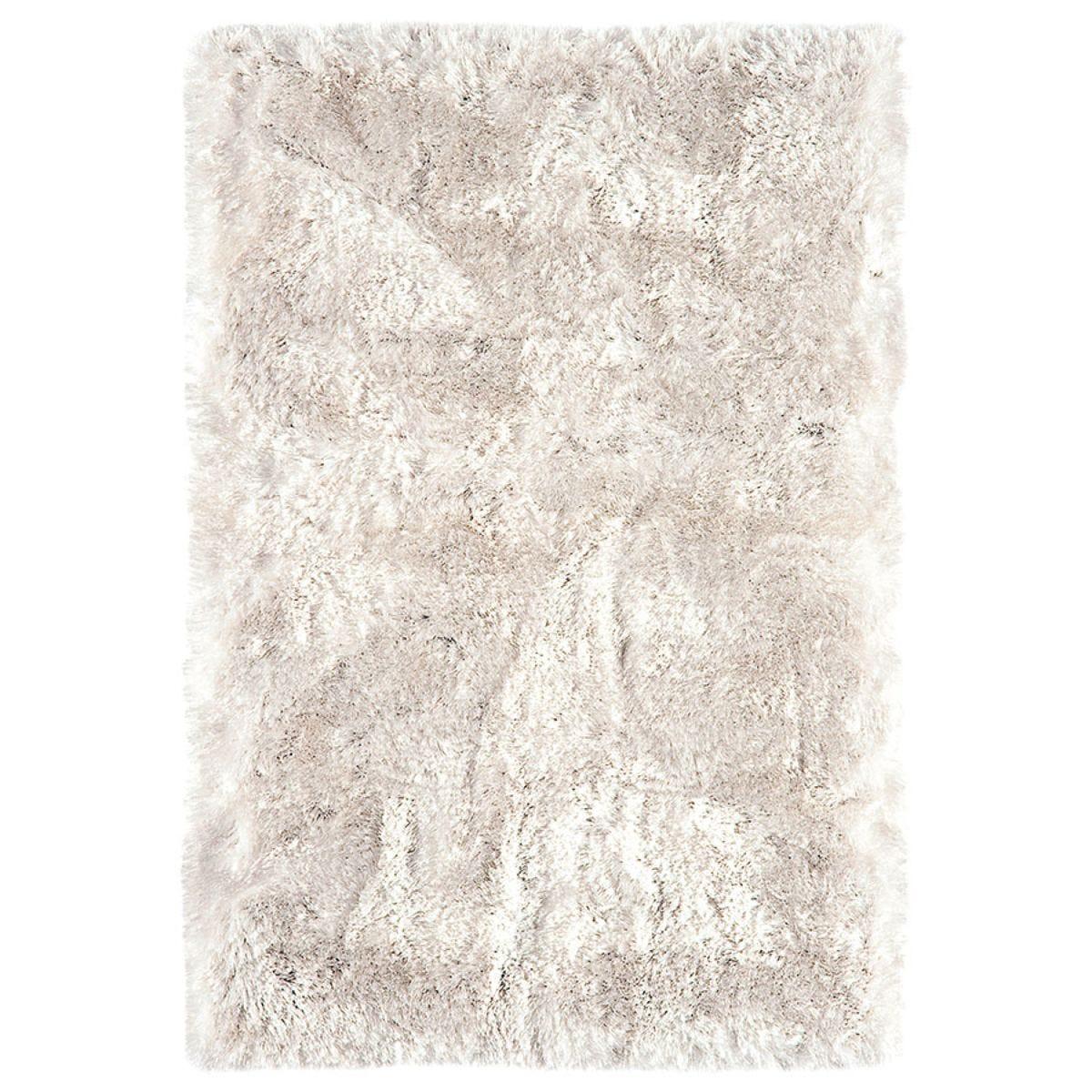 Asiatic Plush Shaggy Rug, 120 x 170cm - White