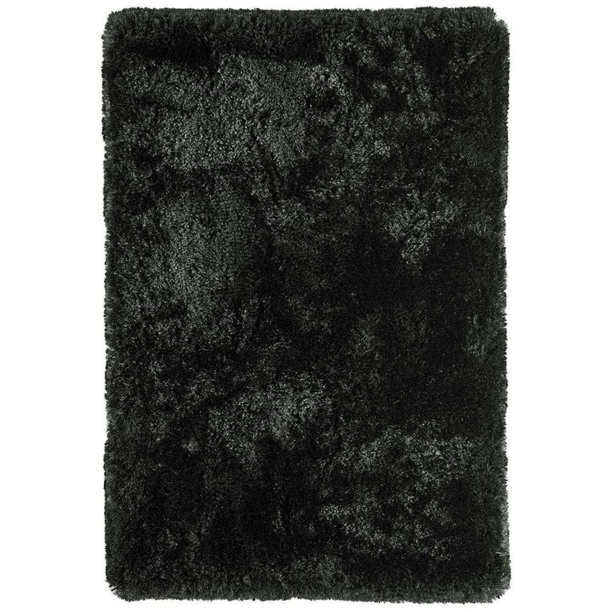 Asiatic Plush Shaggy Rug, 140 x 200cm - Black