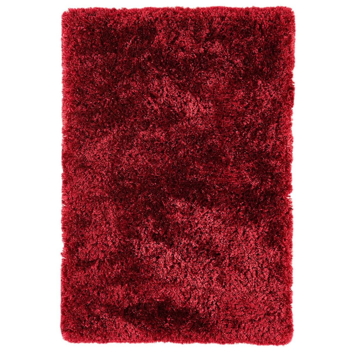 Asiatic Plush Shaggy Rug, 140 x 200cm - Red