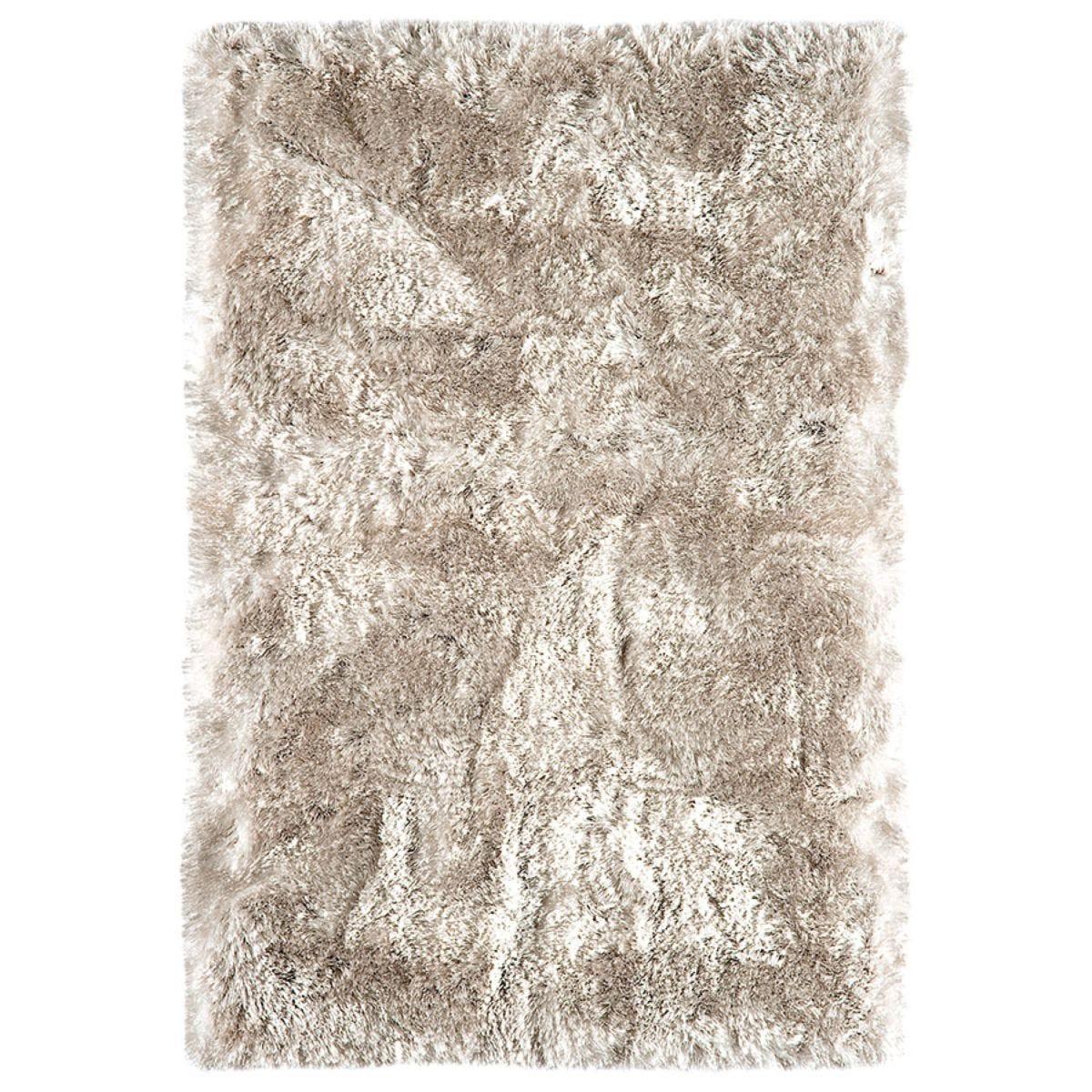 Asiatic Plush Shaggy Rug, 140 x 200cm - Sand