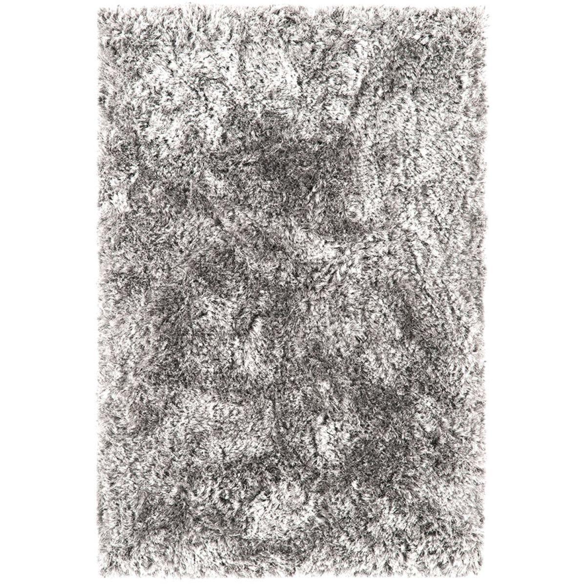 Asiatic Plush Shaggy Rug, 140 x 200cm - Silver
