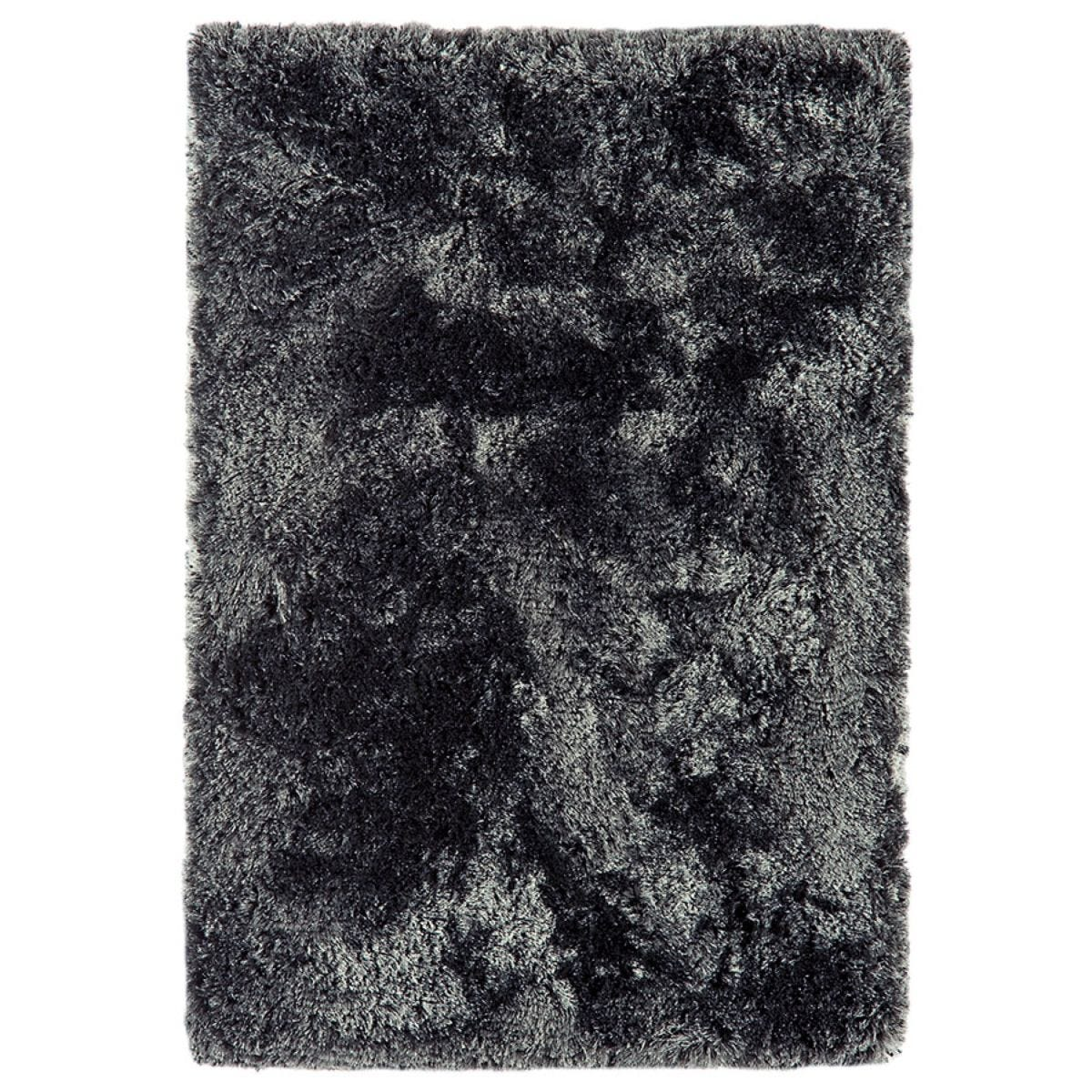 Asiatic Plush Shaggy Rug, 140 x 200cm - Slate