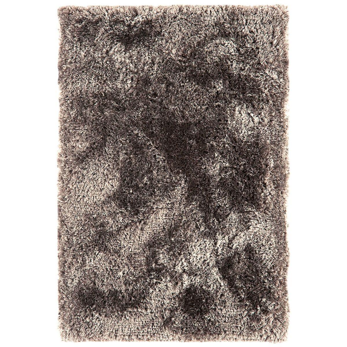 Asiatic Plush Shaggy Rug, 140 x 200cm - Zinc