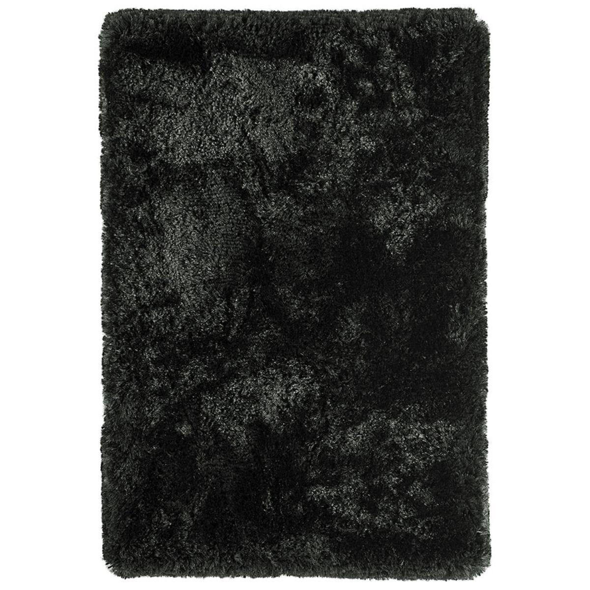 Asiatic Plush Shaggy Rug, 70 x 140cm - Black