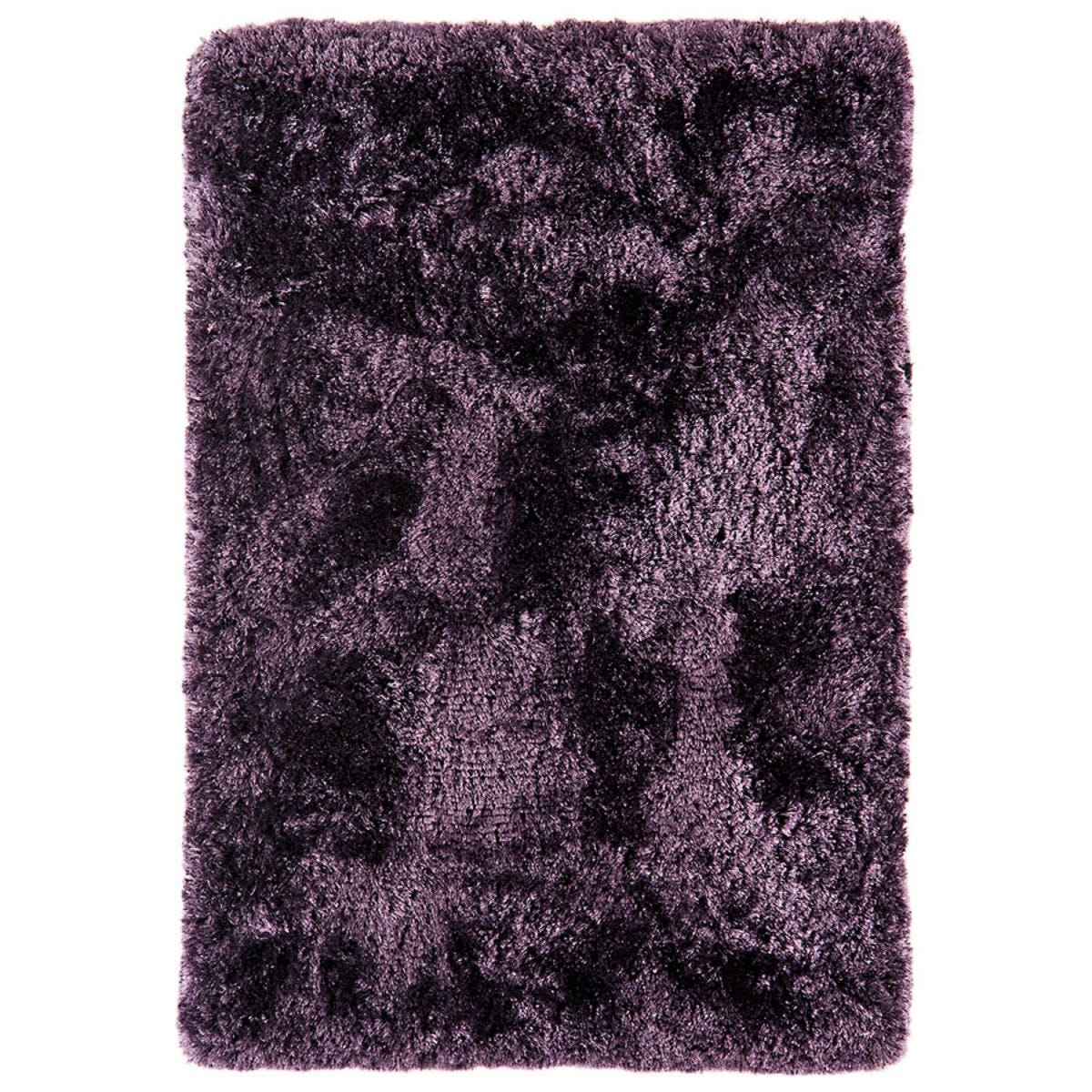 Asiatic Plush Shaggy Rug, 70 x 140cm - Purple