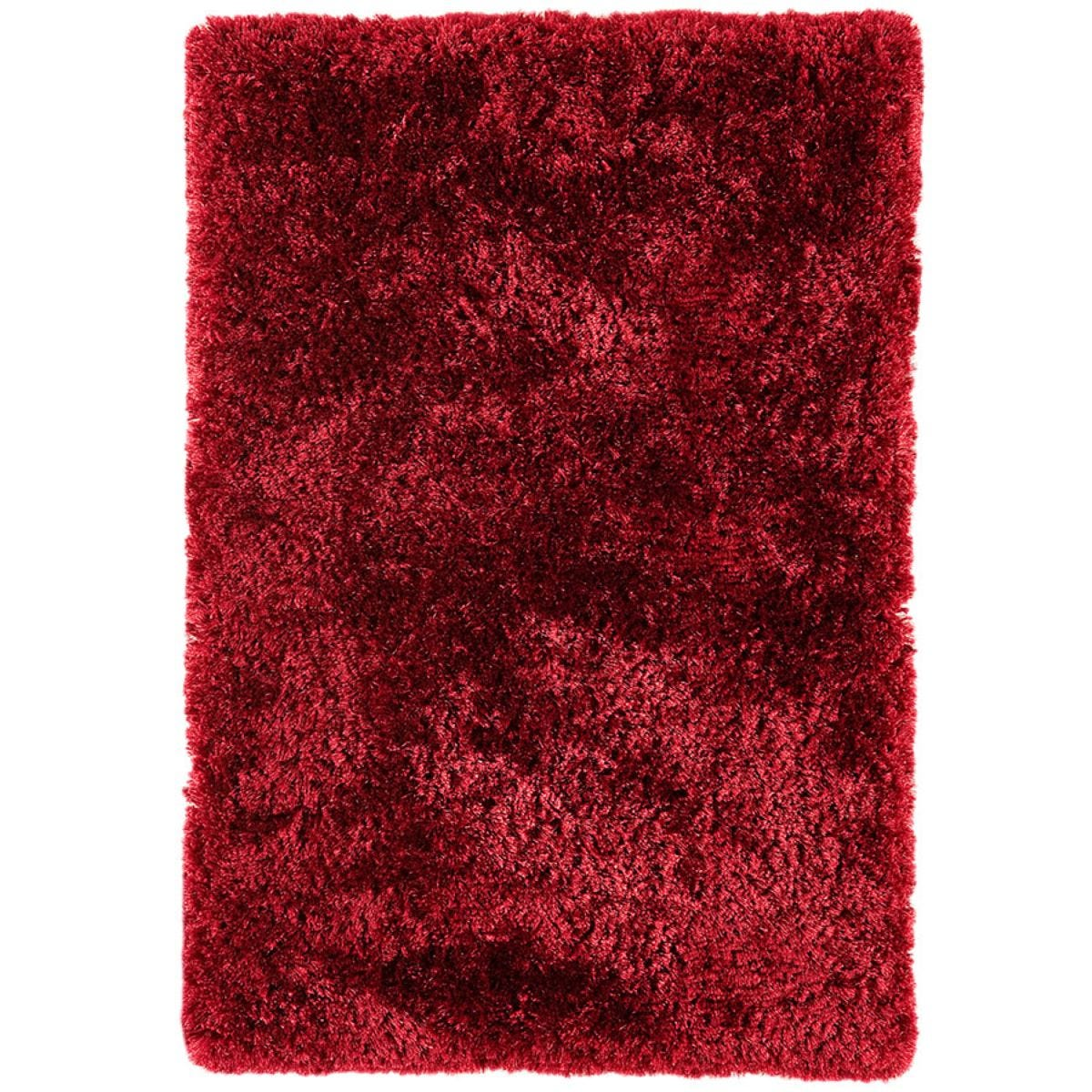 Asiatic Plush Shaggy Rug, 70 x 140cm - Red
