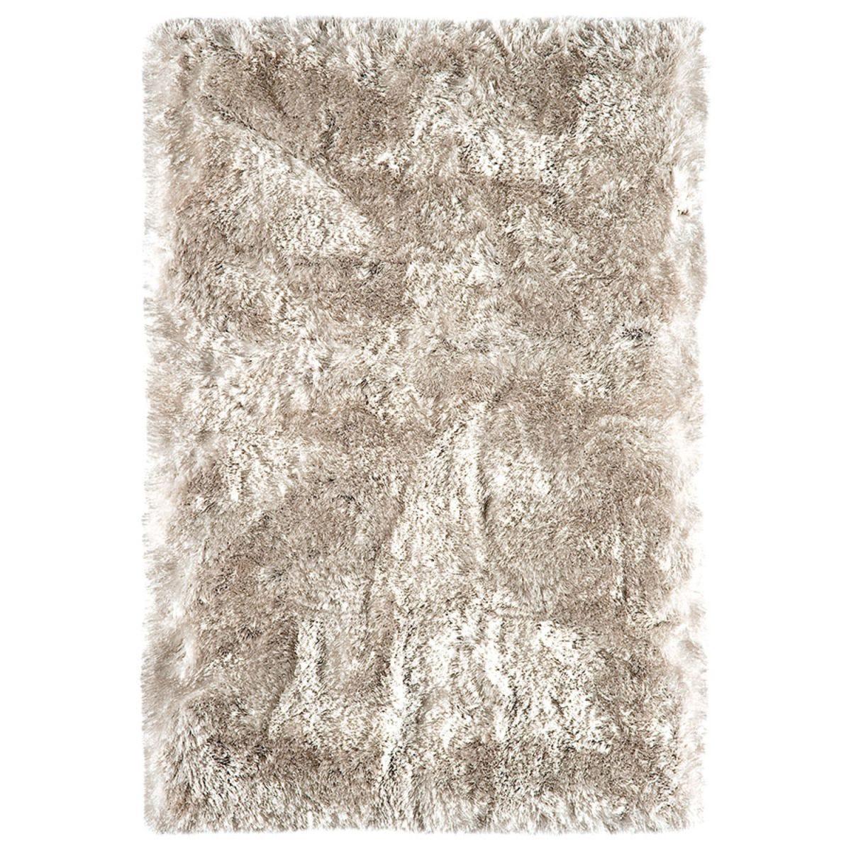 Asiatic Plush Shaggy Rug, 70 x 140cm - Sand
