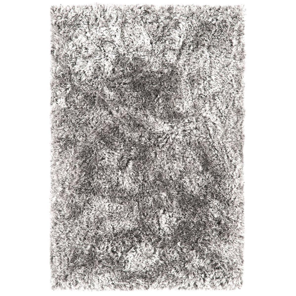 Asiatic Plush Shaggy Rug, 70 x 140cm - Silver