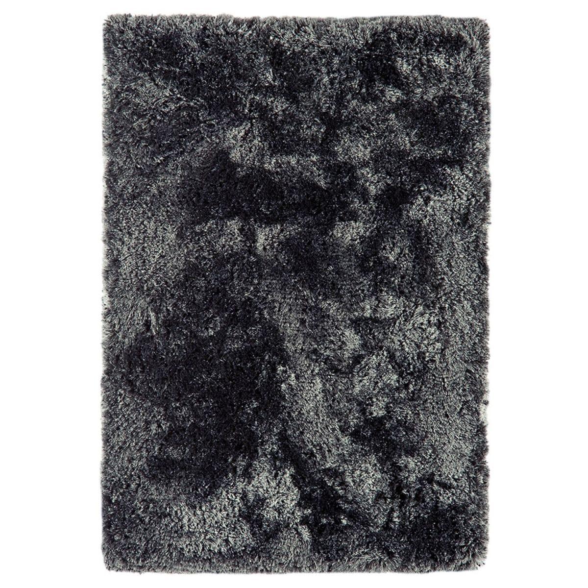 Asiatic Plush Shaggy Rug, 70 x 140cm - Slate