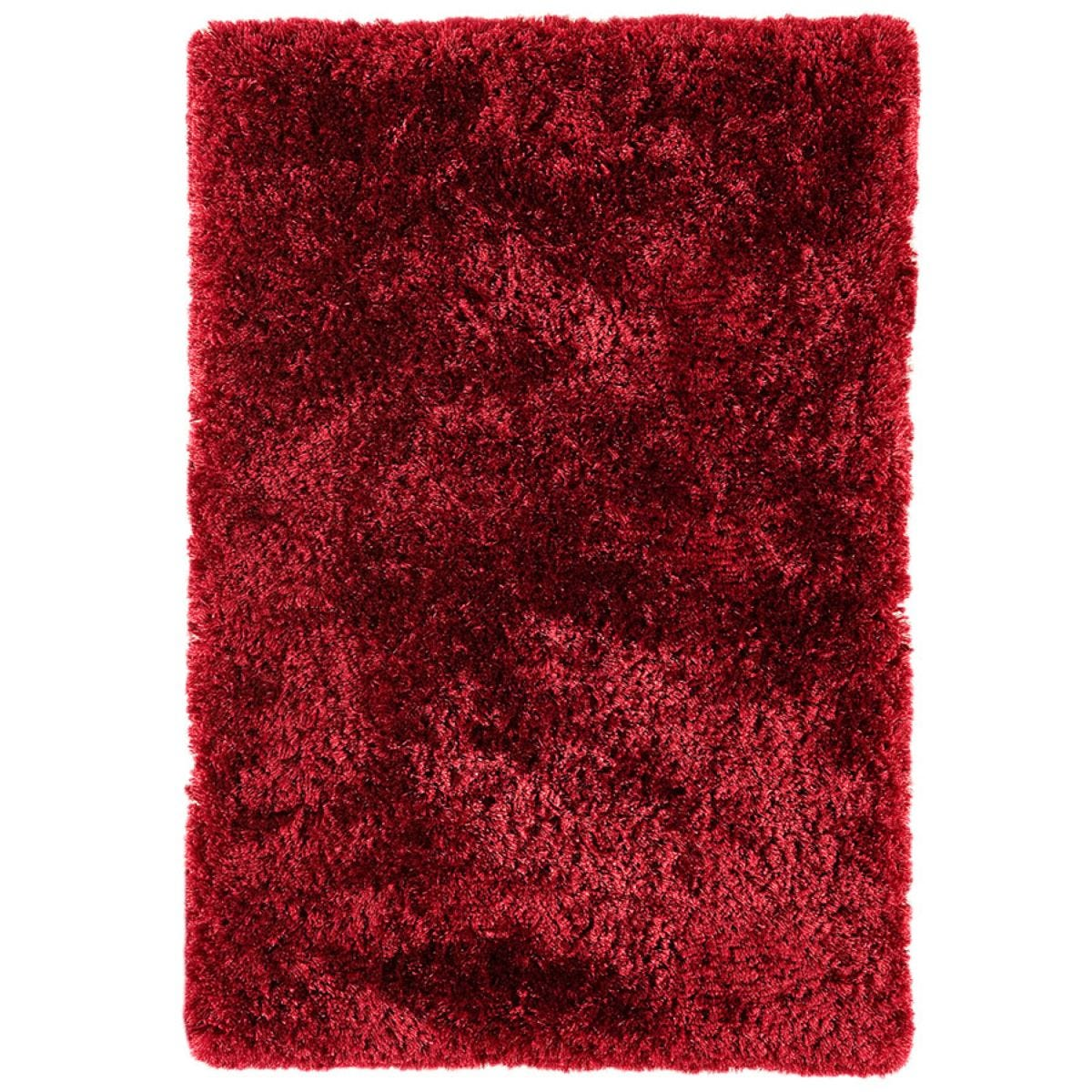 Asiatic Plush Shaggy Rug, 120 x 170cm - Red