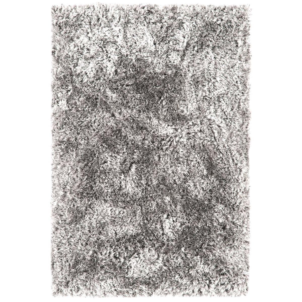 Asiatic Plush Shaggy Rug, 160 x 230cm - Silver