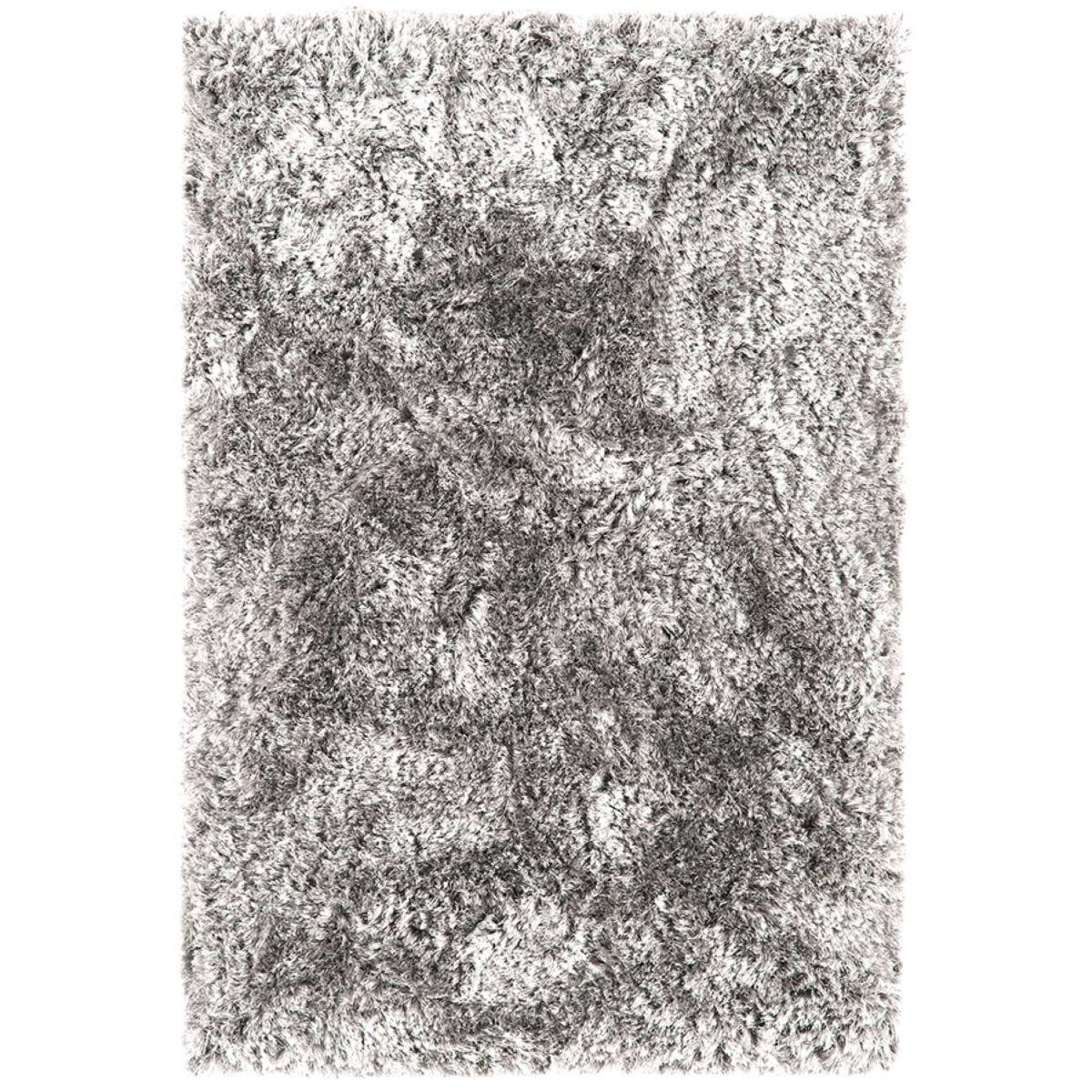 Asiatic Plush Shaggy Rug, 200 x 300cm - Silver